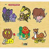 Funzoo Liftout Puzzle Animals With Baby