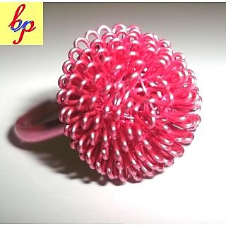 RING(PINK METAL`FLOWER )