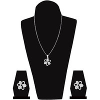 Unique Collection Silver Plated Pendant Set from Jewelz
