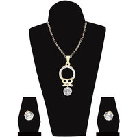 Unique Collection Gold Plated Pendant Set from Jewelz