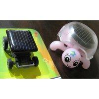 The Smallest Solar Mini Speedy Racing Car + Solar Mini Slow & Steady Turtle Toy
