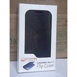 Micromax canvas A110  Black Battery Back Flip Cover Carry Case [CLONE]