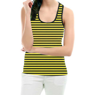 Black n Yellow Stripes Sleeveless Top