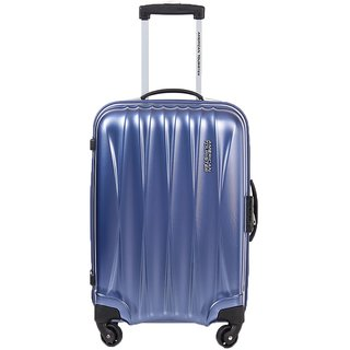 American Tourister Blue Below 20 Inches Polyester 4 Wheels Suitcase