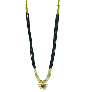 Womens Trendz Fancy Crystal Mani with Single Pendants Mangalsutra