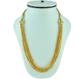 Womens Trendz Golden Ball Chain Necklace