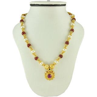 Womens Trendz Round Pandal Unique Haar Necklace