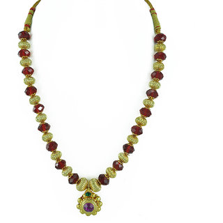 Womens Trendz Round Pandal Unique Haar Necklace