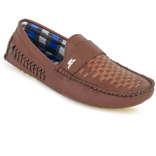 Foot N Style Men Brown Slip On Loafers