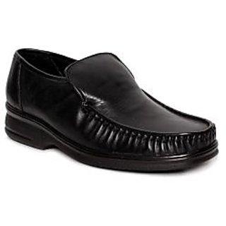 I-Shoes Officious Black Slip-on Shoes