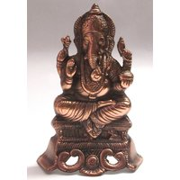Lord Ganesha Black Metallic Handicraft Decorative Show Piece