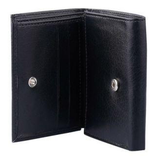 Tri fold Mens Genuine Leather Black Wallet