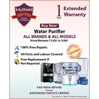 InfyShield Extended Warranty for 1 Year on Water Purifier Priced Between 3,000- to 5,000-