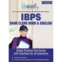 Eduwizards IBPS Bank Clerk English Hindi Online Test Series Online Test (Voucher)