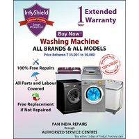 InfyShield Extended Warranty for 1 Year on Washing Machines Priced Between 35,000- to 50,000-
