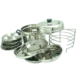 RBJ Idli and Dhokla Maker With Stand Stainless Steel