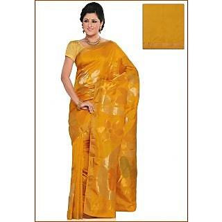 Uppada Pure Cotton And Silk Sarees Golden