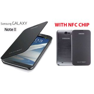 Samsung Galaxy Note 2 Ii N7100 Battery Book Flip Cover Case With Nfc Chip White Clone