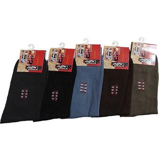 Alfa Public Mens Multicolor Socks - Pack of 5