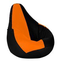Dolphin XXL Bean Bag- Black & Orange-With Bean/Filled