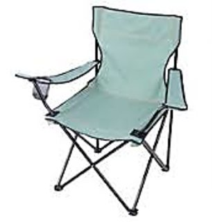 Camp Arm Portable Folding Chair Stool + Drinks Holder Seat Outing Camping Beach