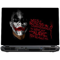 "SkinShack Joker ""Does It Depress You Commissioner""Laptop Skin"