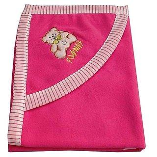 Garg Funny Teddy Dark Hood Pink Blanket