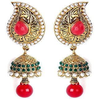 Shining Diva Classic Beaded Hanging Earrings