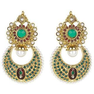 Shining Diva Traditional Beaded Hanging Earrings