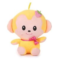 Deals India Yellow Plush Soft Toy with elegant strawberry knitted hair clip