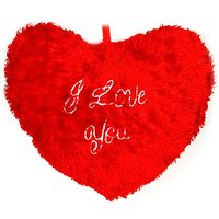Deals India Musical Soft Red jumbo heart (18X16 inches)