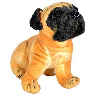 Deals India Pug Dog Stuffed Animal - 40 cm (Brown)