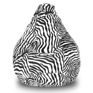 Dolphin XXXL Bean Bag-Zebra-With Bean/Filled