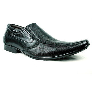 JerryMouse.in Mens Black Leather Formal Shoe - MFOR0021