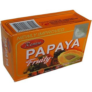 Renew Papaya Fruity Soap For Skin Whitening (135g)