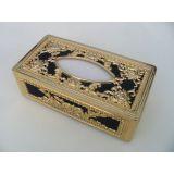 Royal Tissue Box Holder In Black And Golden Color At Best Price. En