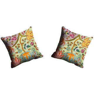 meSleep Maple Flowe Cushion Cover (20x20)