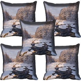 meSleep Nature Digital printed Cushion Cover (16x16)