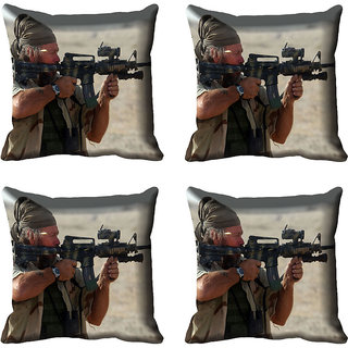 meSleep Abstract Soldier Digital printed Cushion Cover (16x16)