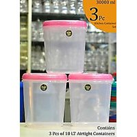 CHETAN 3 PC SET (10 LT), PLASTIC AIRTIGHT KITCHEN STORAGE CONTAINERS@ Rs 849/