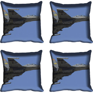 meSleep Fighter Plane Digital printed Cushion Cover (16x16)