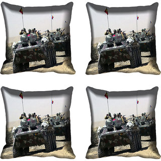 meSleep Battle Tank Digital printed Cushion Cover (16x16)