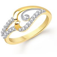 VK Jewels Ideal Gold and Rhodium Plated Ring