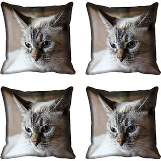 meSleep Cat Digital printed Cushion Cover (16x16)