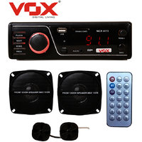 VOX Car Stereo with FM MP3 USB SD Aux-in Player 777 + 2 Speakers + 2 Tweeters