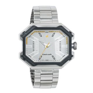 Fastrack Silver Metal Strap Mens Watch