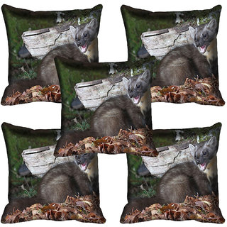 meSleep Wild Life Digital printed Cushion Cover (16x16)
