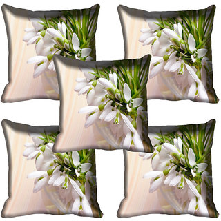 meSleep Flower Digital printed Cushion Cover (16x16)
