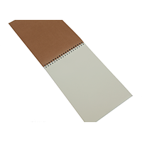 Imported Notepad With Silver Wiro & Imported Cloring Free Natural Paper