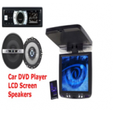 Car Dvd Cd  Mp3 Usb Remote 4 Speakers  7 Lcdfree Dvd Holder Warranty